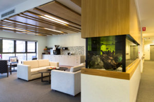 Regis Wynnum Fishtank Lounge area