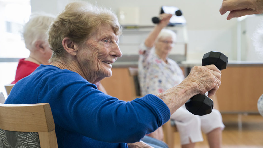 Aged care services nsw - residents enjoying exercise