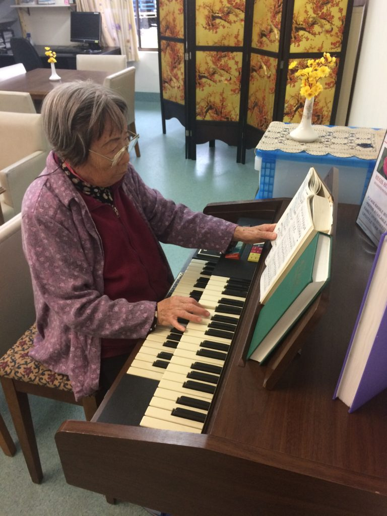 Mrs Lam enjoys playing the piano