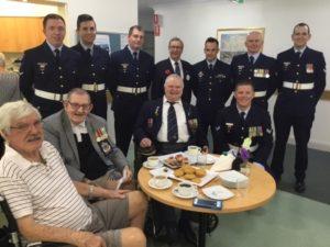 Resident Dr John Barnes Korean War Vet; Resident Rob Murray and Ralph Pearce both Vietnam Vets.