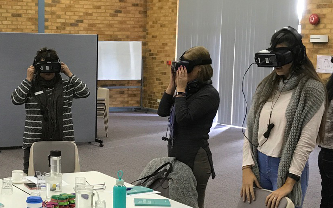 Regis Staff Use VR Technology