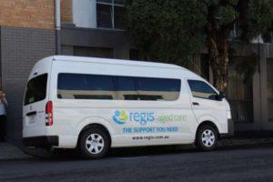Regis Lifestyle buses now at most Regis facilities.
