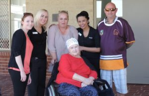 Staff, family and residents -Regis Wynnum