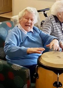 Resident at Cranbourne plays drums